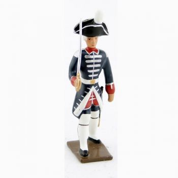 officier des fusiliers de la garde française louis xvi (bicornes) (1789)