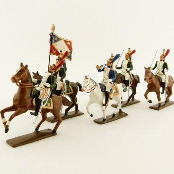 """ensemble de 5 figurines """"Dragons de la garde (dragons de l'impératrice)"""""""
