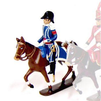 général Gourgaud, aide de camp de l'Empereur à cheval