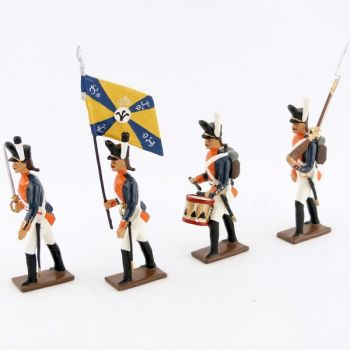 26e régiment de ligne prussien, ensemble de 4 figurines