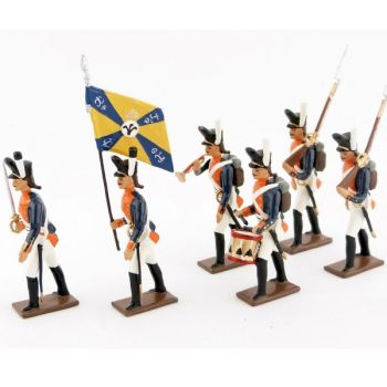 "ensemble de 6 figurines ""26e régiment de ligne prussien"""