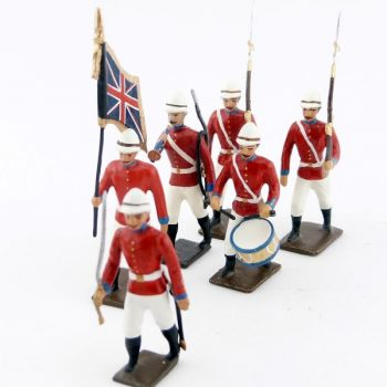"ensemble de 6 figurines ""Infanterie coloniale anglaise"""