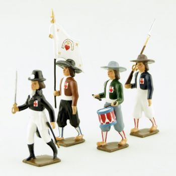 Armée de Vendée, ensemble de 4 figurines