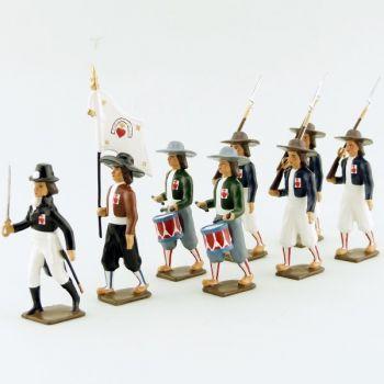"""ensemble de 8 figurines """"Armée catholique et royale de Vendée"""""""