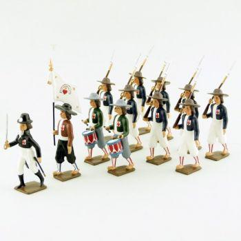 """ensemble de 12 figurines """"Armée catholique et royale de Vendée"""""""