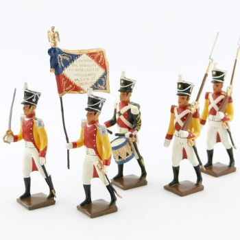 "ensemble de 5 figurines ""bataillon de Neuchatel"""
