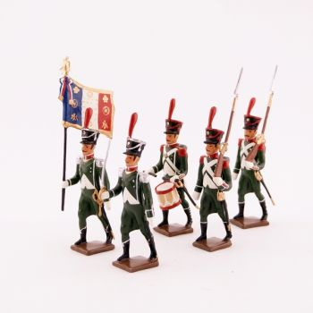 "ensemble de 5 figurines ""régiment de La Tour d'Auvergne"""