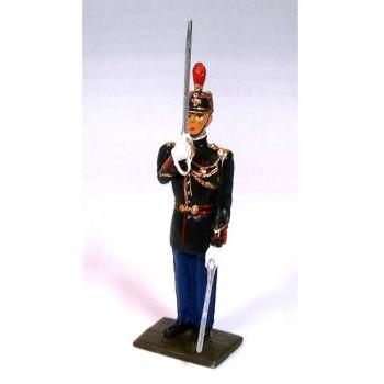 """garde républicain (infanterie de la Garde Républicaine) au """"présentez sabre"""""""