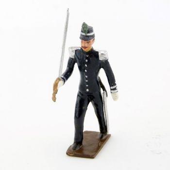 officier des chasseurs à pied en tunique