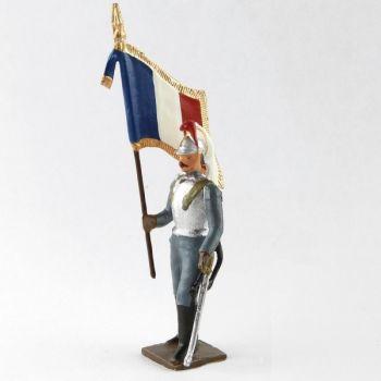 drapeau des cuirassiers à pied, tenue bleu horizon