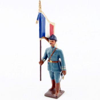 drapeau de l'infanterie de ligne en tunique bleu horizon