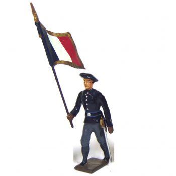 drapeau des chasseurs alpins, tenue bleue