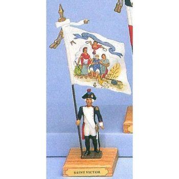 drapeau du bataillon de Saint-Victor