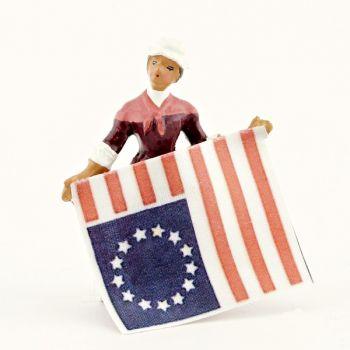 Betsy Ross présentant le drapeau américain