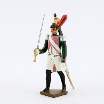 officier du 17ème rgt de dragons (dragons roses - 1812)