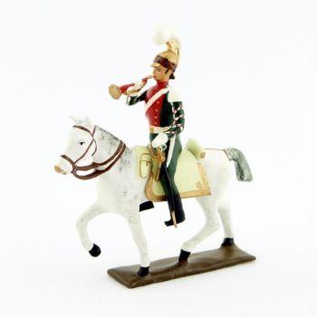 trompette (d'ordonnance) des chevau-léger 1er rgt (plastron écarlate) (1812)