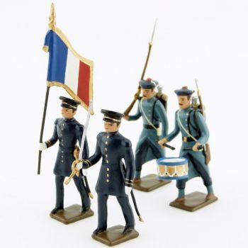 ensemble de 4 figurines Infanterie de marine