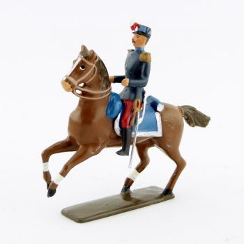 officier des saint-cyriens à cheval