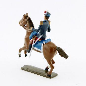 officier des saint-cyriens à cheval