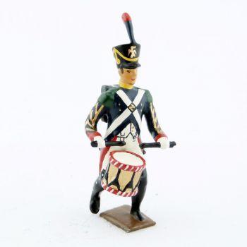 tambour (d'ordonnance) des voltigeurs de la garde à l'assaut