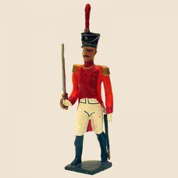 """officier du bataillon de neuchâtel (tenue """"orange"""", ancienne version)"""