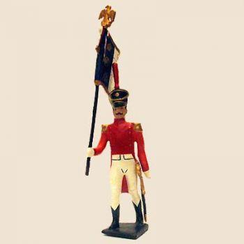 """drapeau du bataillon de neuchâtel (tenue """"orange"""", ancienne version)"""