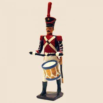 """tambour (d'ordonnance) du bataillon de neuchâtel (tenue """"orange"""", ancienne version)"""