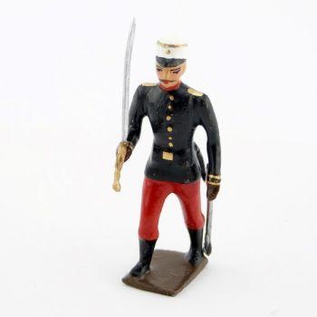 officier du régiment espagnol 1880