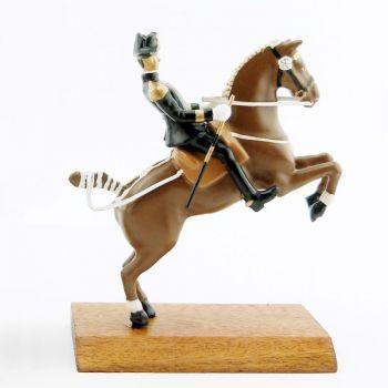 Courbette, cavalier du Cadre Noir, grand modèle (h. 85 mm)