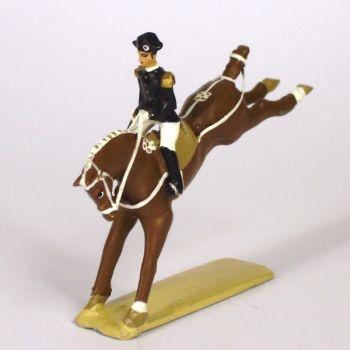 Croupade, cavalier du Cadre Noir, petit modèle (h. 55 mm)