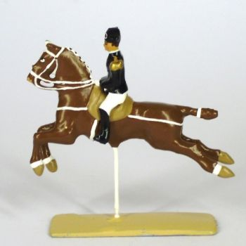 Cabriole, cavalier du Cadre Noir, petit modèle (h. 55 mm)