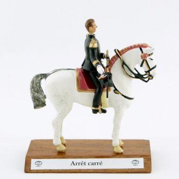 """Ecuyer en chef (""""Grand Dieu""""), cavalier du Cadre Noir, grand modèle (h. 85 mm)"""