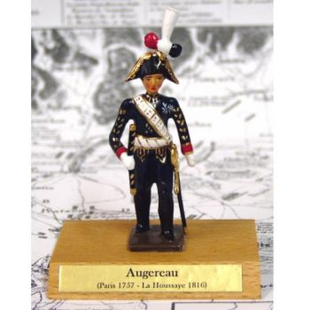 maréchal Augereau sur socle bois