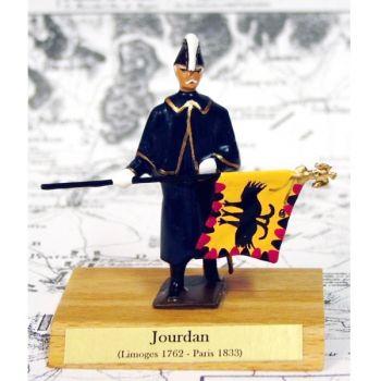 maréchal Jourdan sur socle bois