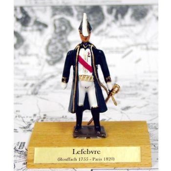 maréchal Lefebvre sur socle bois