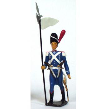 3ème porte-aigle (blanc) de la division Oudinot