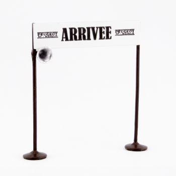 """Poteaux et banderole """"Arrivée"""", avec haut-parleurs"""
