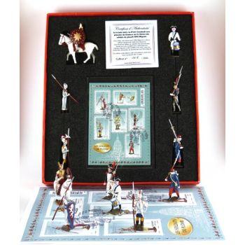 """coffret """"timbres et figurines"""""""