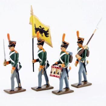 infanterie de ligne russe (en shakos), ensemble de 4 figurines