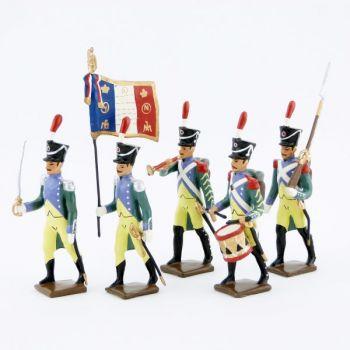 Garde à Pied d'Amsterdam, ens. de 5 figurines