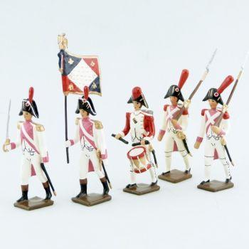 garde d'honneur de Lyon, ensemble de 5 figurines