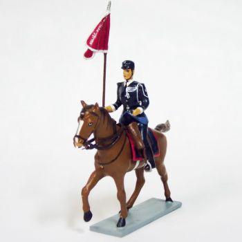 Porte-fanion de l'Unité Equestre (Police montée)