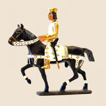 Louis IX (St Louis) à cheval