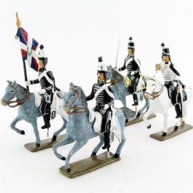 Hussards volontaires de la mort à cheval
