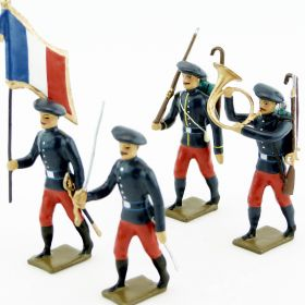 Infanterie alpine 1914, pantalons rouge garance